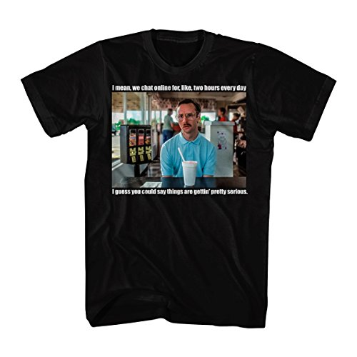 Napoleon Dynamite Men's Napoleon Dynamite Serious Graphic T-Shirt, Black, Medium