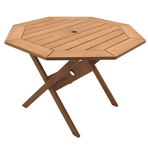 Amazonia Octogonal Eucalyptus Folding Table