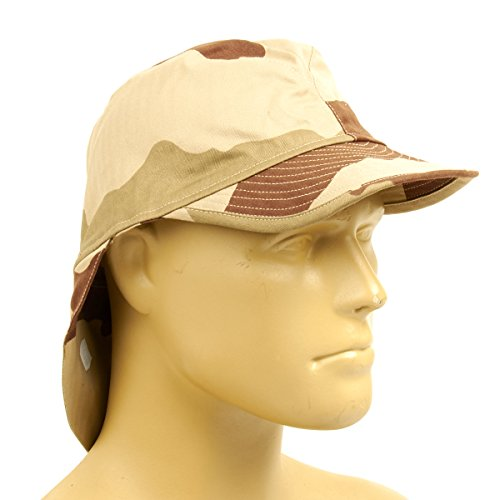 French F2 CCE Field Bigeard Cap Desert Camouflage with Neck Flap - Size 60cm