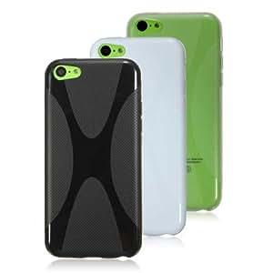 Opción X-Line Shape Soft TPU Silicone Gel Funda para el iPhone 5C: Borrar