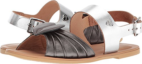 Love Moschino Women's Leather Sandals w/Tone On Tone accessories Black/Silver 40 M EU by Love Moschino