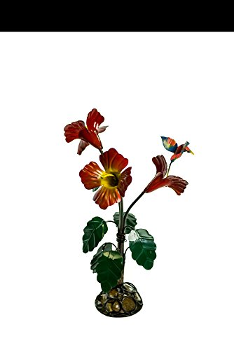 Rustic Arrow Small Hibiscus for Decor, 18 by 18 by 31-Inch, Multicolor