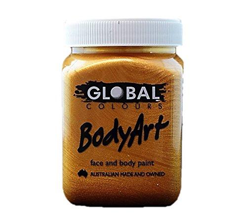 Global Body Art Face Paint - Liquid Gold 200ml