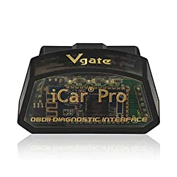 Codiak Vehicle Diagnostic Tool Icar Pro WiFi Obdii Bluetooth Scanner Car Engine Diagnostic Code Scanner Code Reader for Andriod iOS (BK)