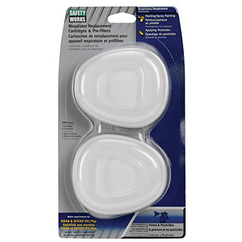 Safety Works SWX00322 Paint & Pesticide Replacement Cartridges & Pre-Filters, Ov/P95