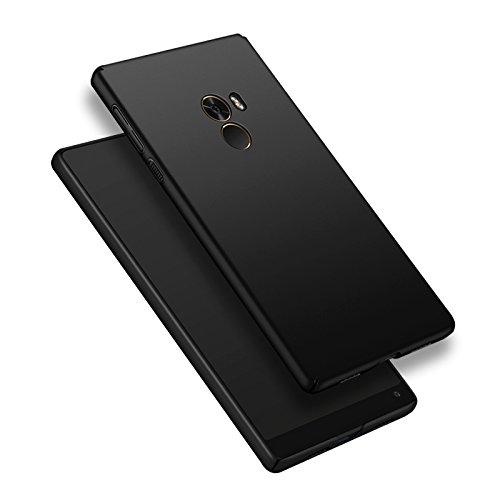 Funda Xiaomi Mi Mix, Caso con [Protector de Pantalla de Cristal Templado] [Ultra-Delgado] [Ligera] Anti-Rasguño y Anti-Huellas Dactilares Totalmente Protectora Estuche de Plástico Duro -Rojo Negro