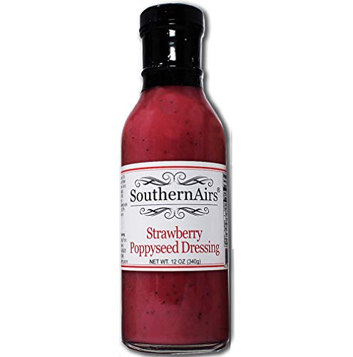 SouthernAirs Old-Fashioned Strawberry Poppyseed Salad Dressing or Dip/Real Strawberries/Poppyseeds blended in creamy medley / 12 oz. bottle ()