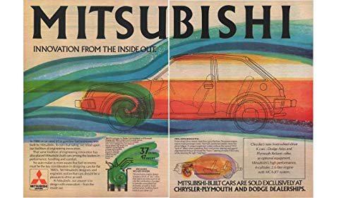Magazine Print ad 1980 Mitsubishi-Built Cars For Chrysler-Plymouth and Dodge, MCA-JET Sysyem, Dodge Colt and Plymouth Champ,