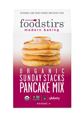 Foodstirs Organic Sunday Stacks Pancake Mix 20 Ounce, (Pack of 3)