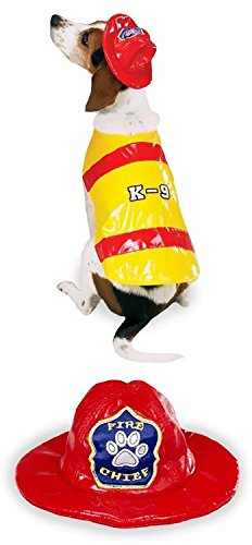 Pawfield Fire Chief Dog Costume LARGE (Dog Firefighter Costume)