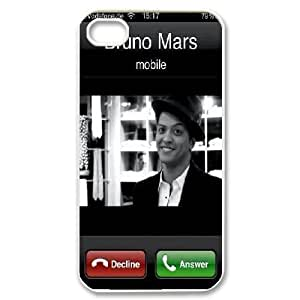 IPhone 4/4s Cases Bruno Mars Incoming Telegram, IPhone 4/4s Cases Bruno Mars Cute For Girls, [White] hjbrhga1544