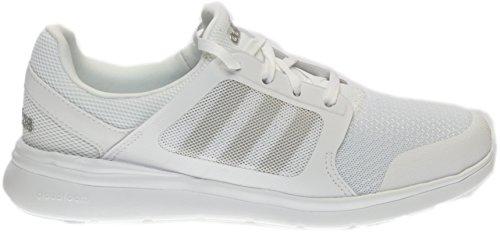 adidas Women's Cloudfoam Xpression Sneaker,White/Matte Silver/Clear Onix,US 5.5