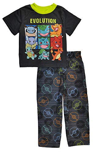 (Pokemon Boys' Evolution 2-Piece Short Sleeve Pajama)
