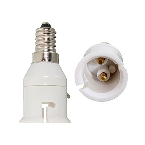 Ivaan – E14 To B22 Lamp Socket Converter (White) – Pack of 2