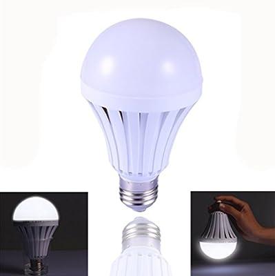 JKLcom Emergency LED Light Bulb (4 Pack), 9 W White Emergency LED Light Bulbs with Hook Switch Human Body Induction Household Lighting Bulbs E27/E26 Base ,75W equivalent