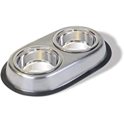 Van Ness Stainless Steel Large Double Dish, 64 Ounce