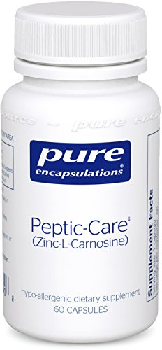 Pure Encapsulations - Peptic-Care (Zinc-L-Carnosine) - Hypoallergenic Supplement Provides Antioxidant Support for Overall Gastric Health and Comfort* - 60 Capsules (Peptic Care)
