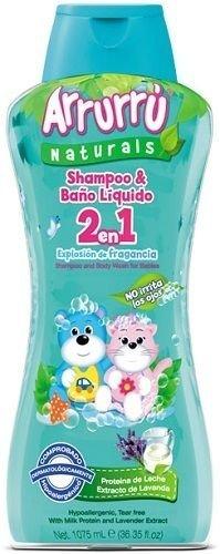 Arrurru Baby Shampoo & Baño Liquido 2 en 1 Explosion de Fragancia.