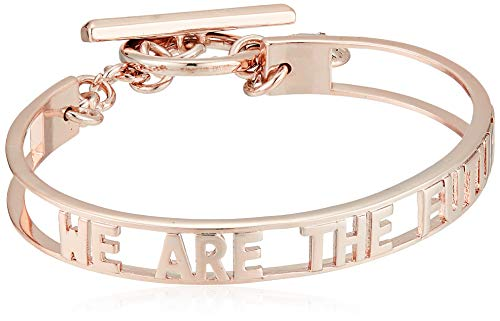 BCBG Generation Cut-Out 'Future' Toggle Bracelet, Rose Gold, One Size