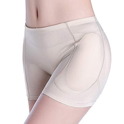 Women Butt Lifter, 4 Pads Shapewear Enhancer Control Panties Body Shaper Underwear (3XL, Khaki)