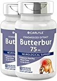 Carlyle Butterbur Extract 75mg 120 Capsules – Migraine Headache Formula – Non-GMO, Gluten Free, PA Free For Sale