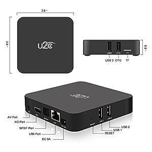 Android 7.1 Smart TV Box U2C Z Plus Amlogic S912 Octa Core 2GB RAM 16GB ROM 4K Ultra HD H.265 2.4G 5G Dual-Band Wifi with LED Display Gigabit 1000M LAN Ethernet