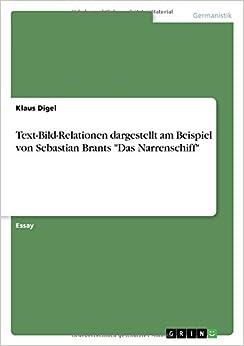 Text-Bild-Relationen dargestellt am Beispiel von Sebastian Brants 'Das Narrenschiff'