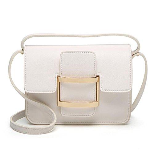 GKKXUE El bolso simple y versátil de las mujeres bolso de hombro del bolso del mensajero libera la cartera del envío (Color : Blanco) Blanco