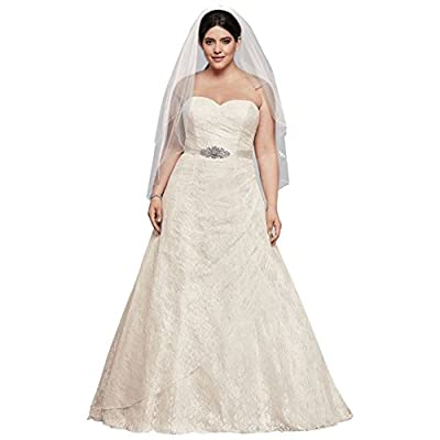 Allover Lace Plus Size A-Line Wedding Dress Style 9WG3805