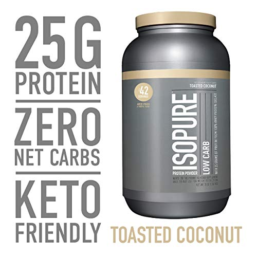 Isopure Low Carb, Keto Friendly Protein Powder, 100% Whey Protein Isolate, Flavor: Toasted Coconut, 48 Ounce