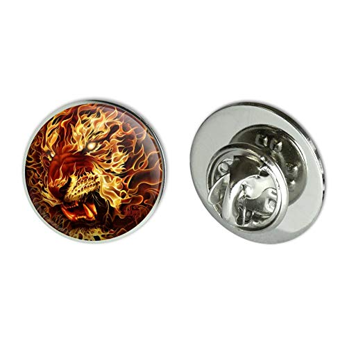 Graphics and More Flaming Fire Tiger Metal 0.75