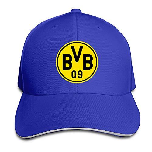 Borussia Dortmund Soccer Logo Classic Baseball Cap, Adjustable Fits Men Women Plain Low Profile Blue Hat