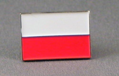Anstecknadel Metall Email Motiv Polnische Flagge Polen Polska Küche Haushalt