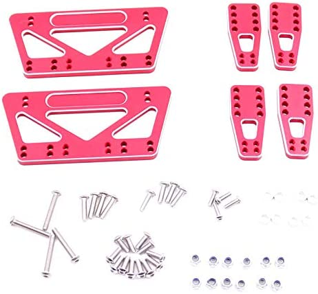 TOPSALE Metall Chassis Hub Platten Set Kit f/ür 1//10 RC Axial SCX10 Modell Auto Teile Rot