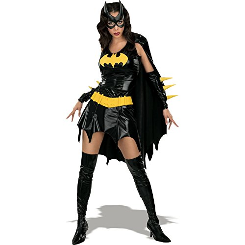 Broadway Halloween Costume (DC Comics Secret Wishes Sexy Deluxe Batgirl Adult Costume,Black,X-Small)