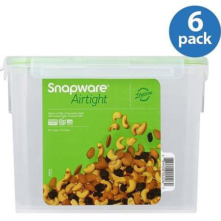 Snapware Airtight Plastic 11-Cup Rectangle Food Storage C...