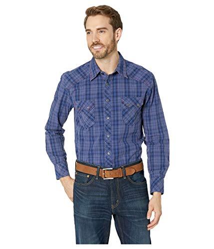 Snap Close Western Shirt - Rock and Roll Cowboy Men's Long Sleeve Snap B2S7010 Blue X-Large