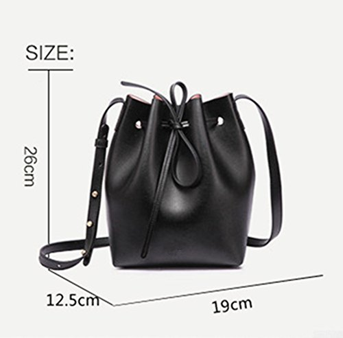 Women Satchel Cluthes Bucket Bag Shoulder Soft body Gift White S Girl Free Purse Leather Large Cross Tote Lady for xnvqnAI0WZ