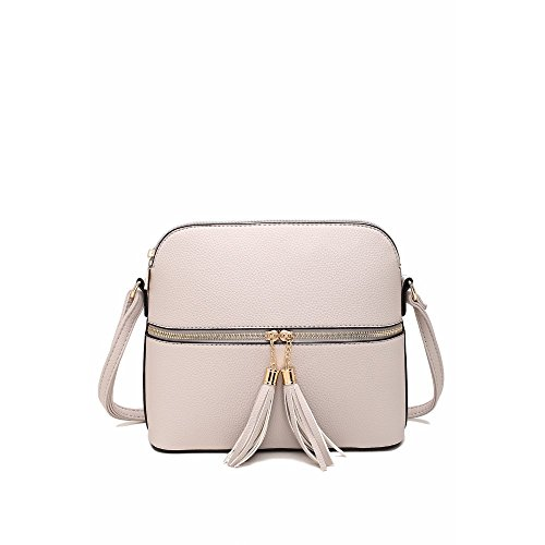 MKF Collection Alejandra Crossbody Bag by Mia K. Farrow (Beige)