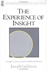By Joseph Goldstein - Experience of Insight (Revised edition) Paperback