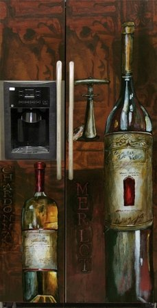 Appliance Art Old World Wine Refrigerator Magnet Cover by Appliance Art