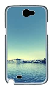 Mountains And Lake Polycarbonate Hard Case Cover For Samsung Galaxy Note 2/ Note II / N7100 - White