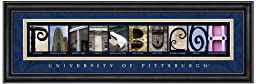 Prints Charming Letter Art Framed Print, U of Pittsburgh-Pittsburgh, Bold Color Border