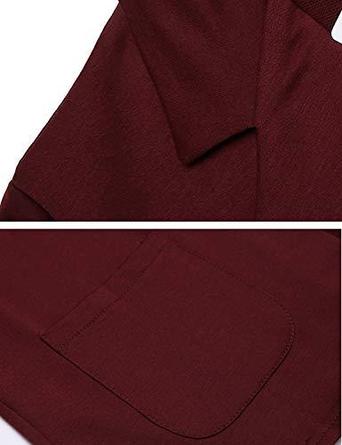 Da Manica Cappotto Slim Moda Fit Di Tasche Lunga Con Mode Grau Giacca Vintage Business Eleganti Marca Cardigan Donna Tailleur Classiche Primaverile Bavero Autunno Monocromo Blazer 1g4vwqxO