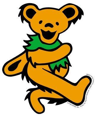 GDP Inc. Grateful Dead Dancing Bear, Outrageous Orange - 3.5