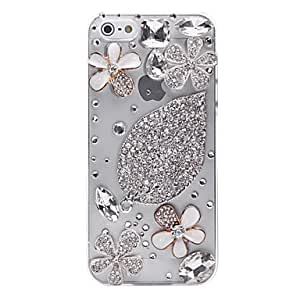 Four-leaved Clover Pattern Metal Jewelry Back Case for iPhone 5/5S