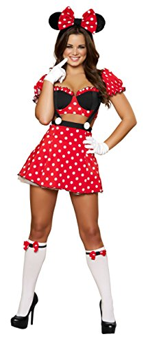 Sexy Women's 3pc Minnie Mouse Mistress Costume (S/M) (Mistress Costumes)