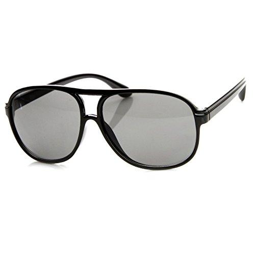 SWG EYEWEAR 80s Vintage Retro Plastic Aviator Sunglasses Capsule Edition (Black) ()