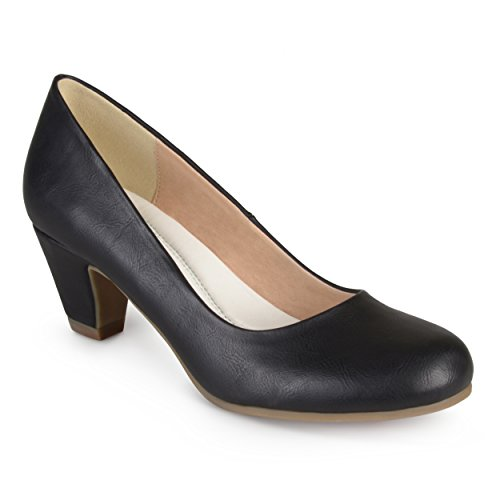 - Journee Collection Womens Comfort Fit Round Toe Classic Pumps Black, 9.5 Regular US