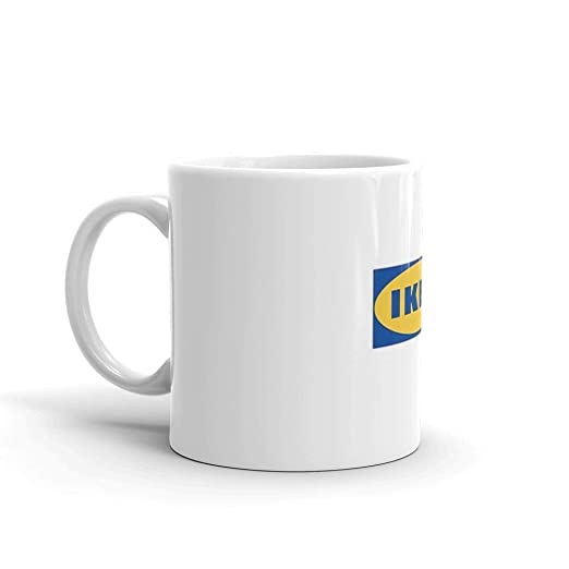 Amazon.com: ikea Taza de cerámica blanca de 325 ml: Kitchen ...